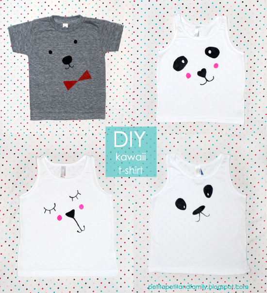 DIY kawaii Cute face t-shirt